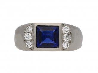vintage sapphire diamond ring hatton garden berganza