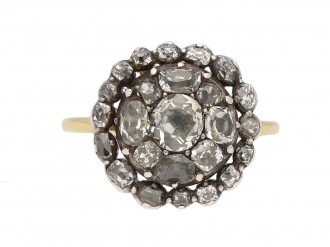 georgian diamond cluster ring hatton garden berganza