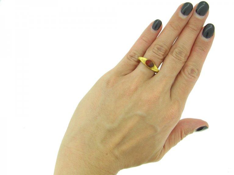 front ancient roman marriage ring hatton garden berganza