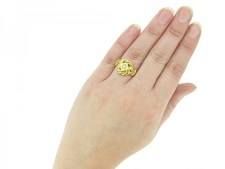 antique gold diamond knot ring hatton garden berganza