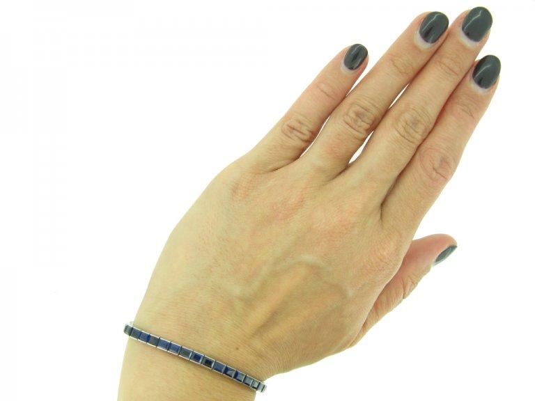 art deco sapphire line bracelet hatton garden berganza