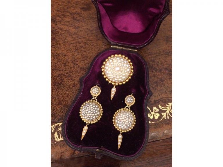 Victorian natural pearl suite berganza hatton garden
