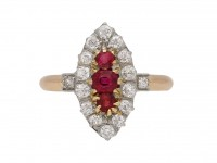 antique ruby diamond cluster ring hatton garden berganza