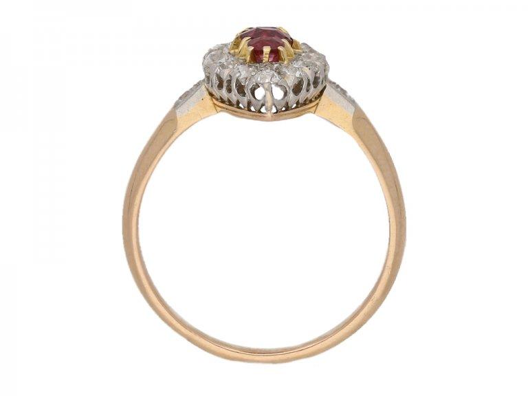 antique ruby diamond cluster ring hatton garden berganza