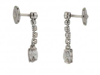 antique diamond drop earrings hatton garden berganza