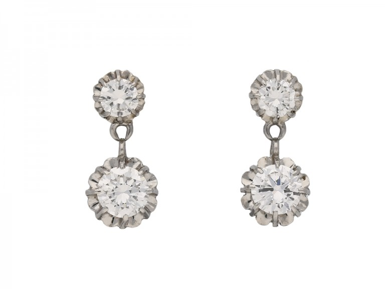 vintage diamond drop earrings hatton garden berganza