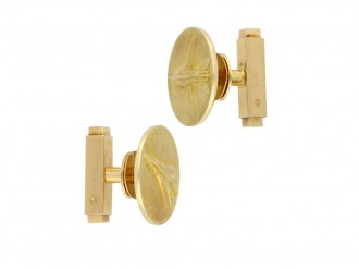 Cartier Mirage gold cufflinks berganza hatton garden