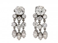 antique diamond day night earrings berganza hatton garden