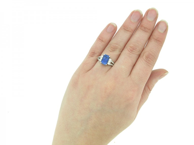 art deco sapphire diamond ring berganza hatton garden