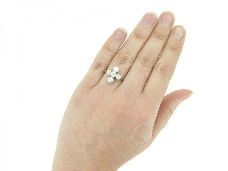 Diamond five stone ring berganza hatton garden