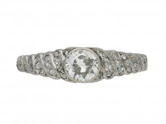 Edwardian fancy solitaire diamond ring berganza hatton garden