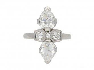 Art Deco two stone diamond ring berganza hatton garden