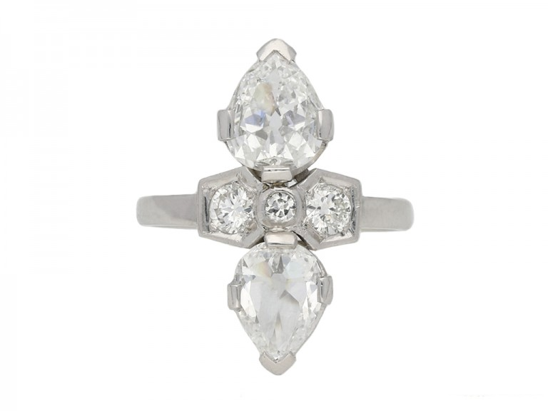 Art Deco two stone diamond ring berganza hatton garden