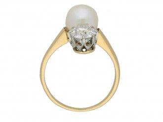 Belle Époque natural pearl diamond ring berganza hatton garden