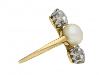 Belle Époque natural pearl diamond ring berganza hatton garden