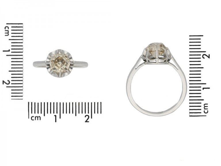Belle Époque diamond solitaire ring berganza hatton garden
