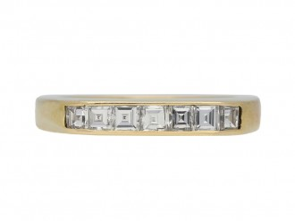 Vintage half eternity diamond ring berganza hatton garden
