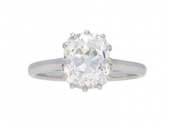 Old mine diamond solitaire engagement ring berganza hatton garden