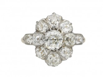 Belle Epoque diamond coronet cluster ring berganza hatton garden