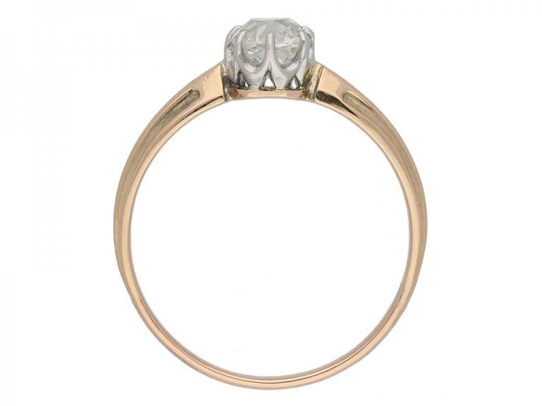 Edwardian diamond solitaire engagement ring berganza hatton garden