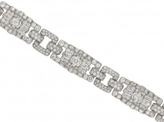 Art Deco diamond bracelet berganza hatton garden