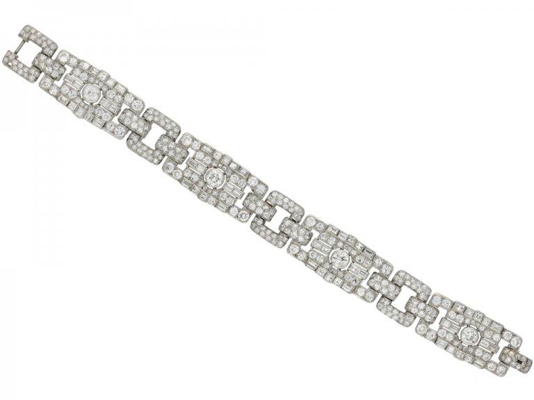 Art Deco diamond bracelet berganza hatton garden