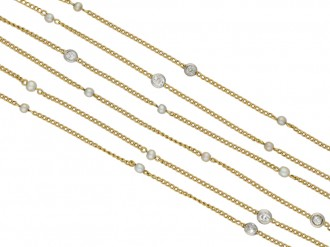 Belle Époque diamond and pearl chain berganza hatton garden