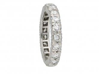 Vintage diamond eternity ring in platinum berganza hatton garden