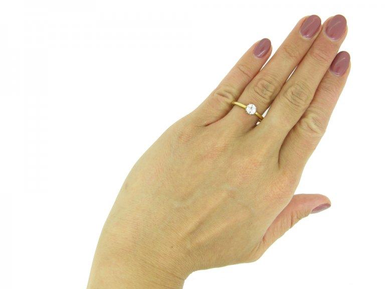 Antique old cut diamond solitaire ring berganza hatton garden