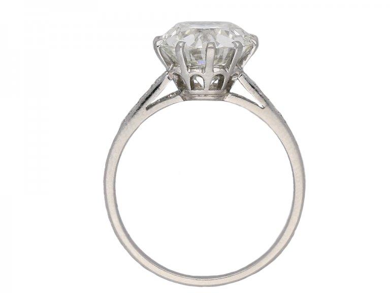 Edwardian solitaire diamond ring berganza hatton garden