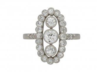 Belle Epoque diamond cluster ring berganza hatton garden