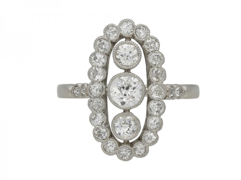 Belle Epoque diamond cluster ring berganza hatton garden