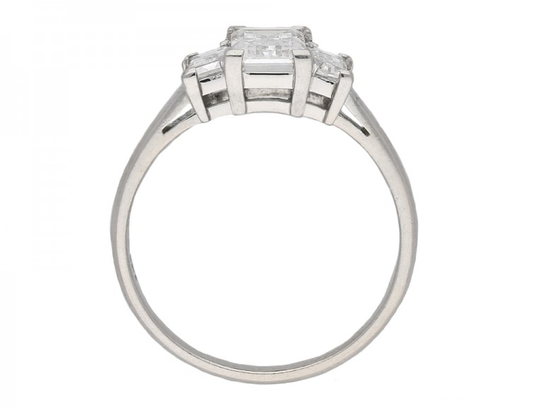 Art Deco baguette cut diamond ring berganza hatton garden
