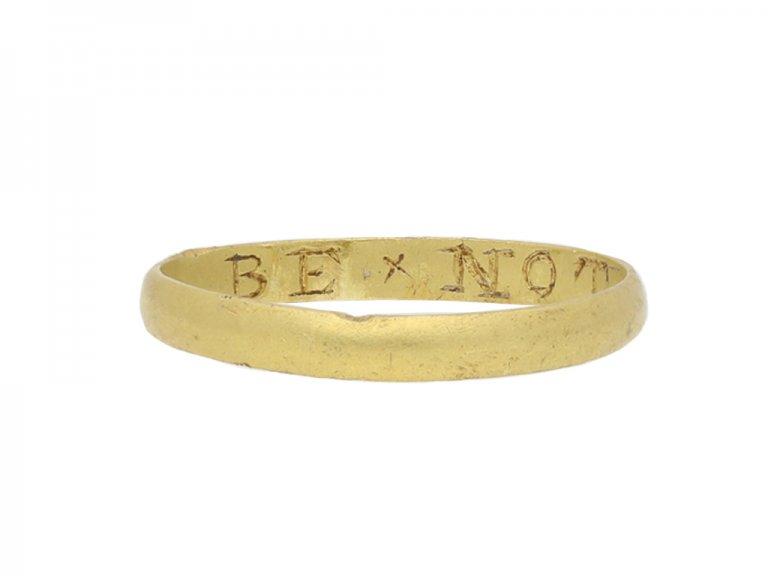 Posy ring 'BE x NOT x IDEIL berganza hatton garden