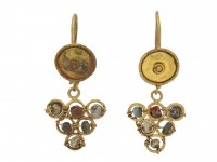 Ancient Roman bead earrings berganza hatton garden
