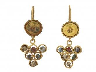 Ancient Roman bead earrings berganza hatton garden