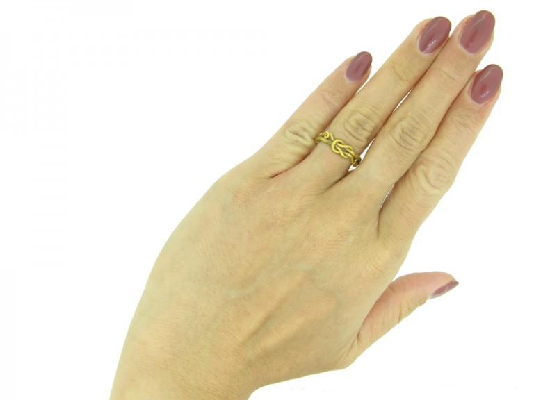 Viking yellow gold love ring berganza hatton garden