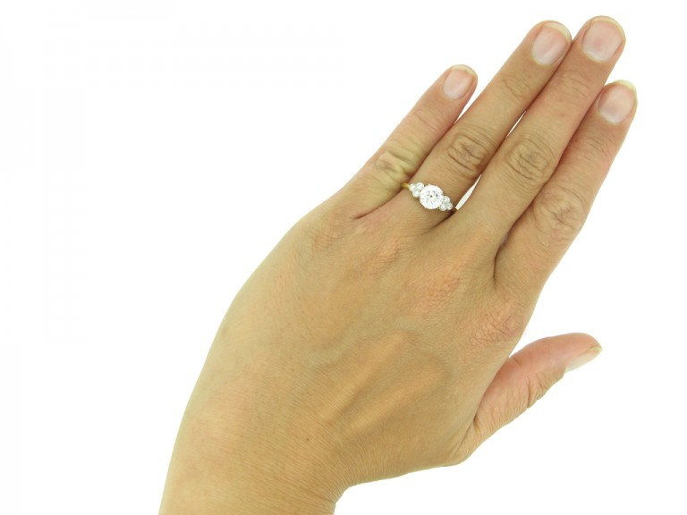 Vintage diamond engagement ring berganza hatton garden