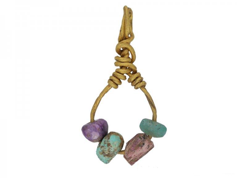 Viking gemstone bead pendant berganza hatton garden