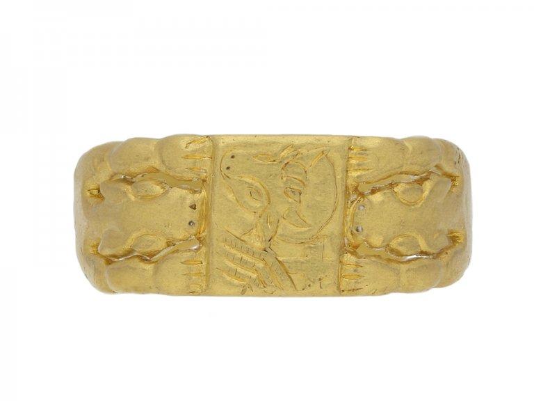 Medieval ring of St Luke berganza hatton garden