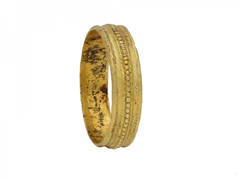 Georgian yellow gold wedding band berganza hatton garden