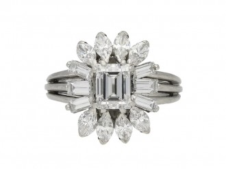 Vintage diamond ballerina ring berganza hatton garden