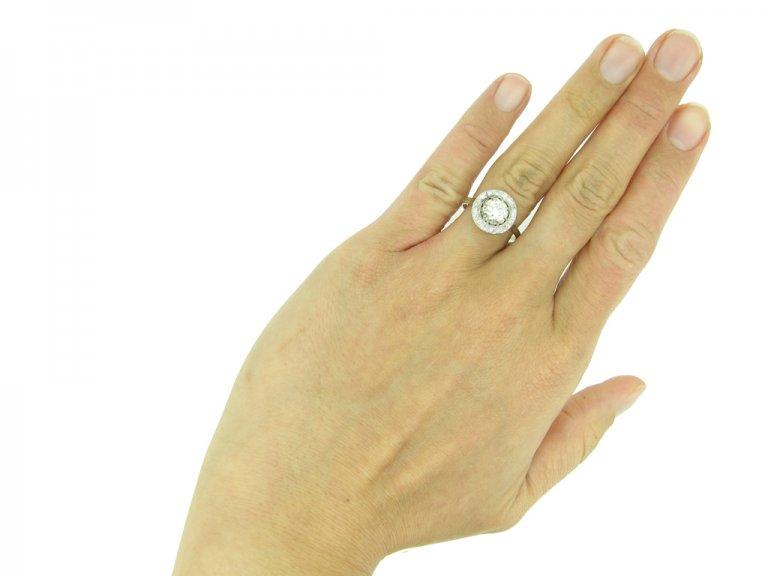 Art Deco diamond coronet cluster ring berganza hatton garden