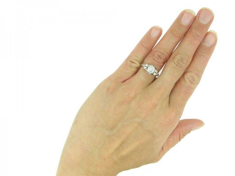 Art Deco old cut diamond solitaire ring berganza hatton garden