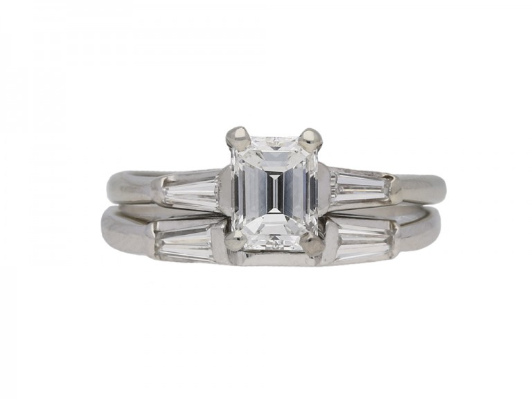 emerald cut diamond ring diamond band berganza hatton garden