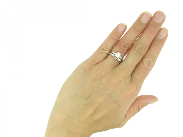 emerald cut diamond ring diamond band berganza hatton garden