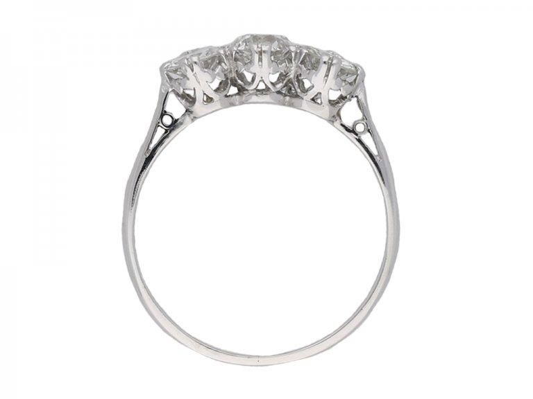 Diamond three stone ring berganza hatton garden