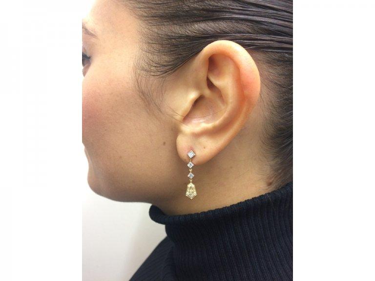 Diamond drop earrings berganza hatton garden