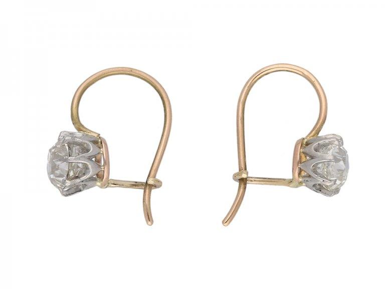 Old mine diamond earrings berganza hatton garden