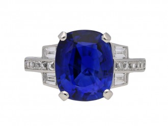 Burmese sapphire and diamond ring berganza hatton garden
